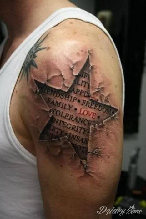 Tatuaż Każdy szuka wartości..