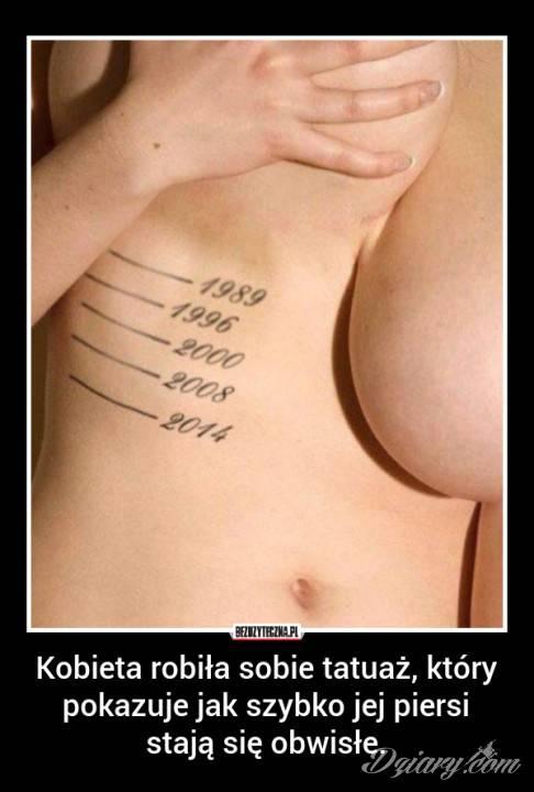 Tatuaż Kobieta robiła sobie...