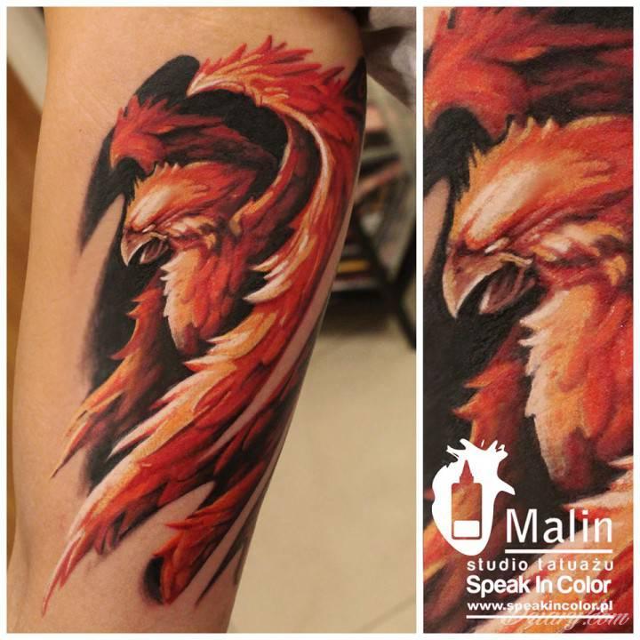 Tatuaż Kolorowy feniks by...