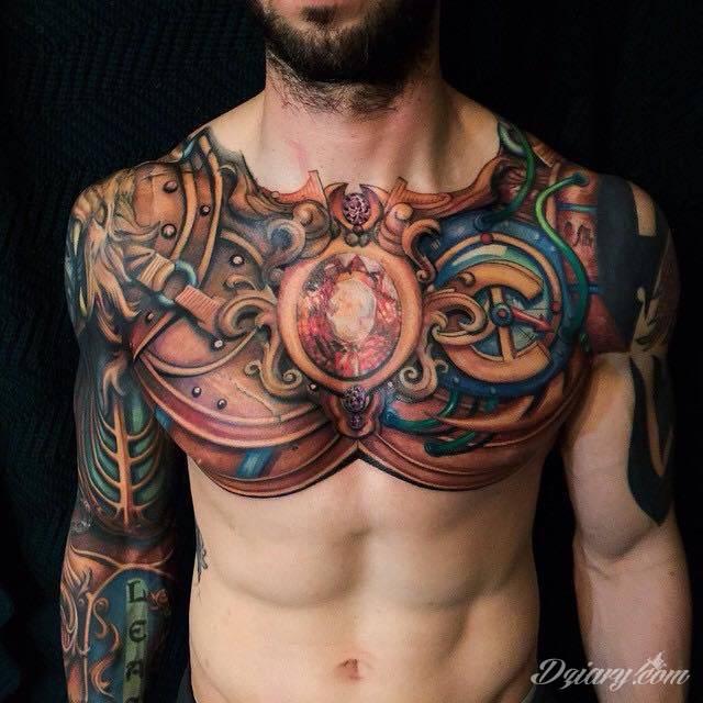 Tatuaż Kryształ wśród metalu...