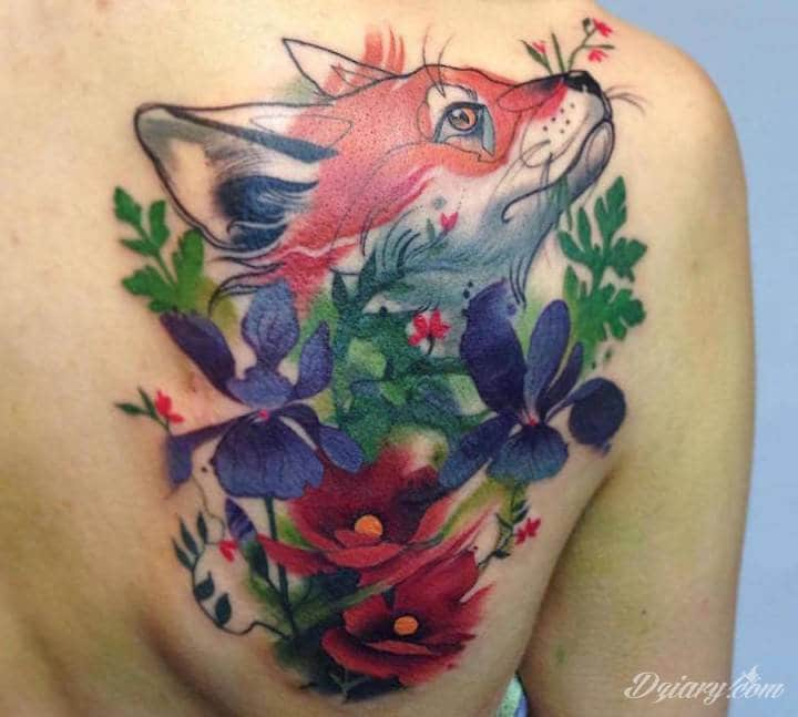 Tatuaż Łagodna natura pomaga...