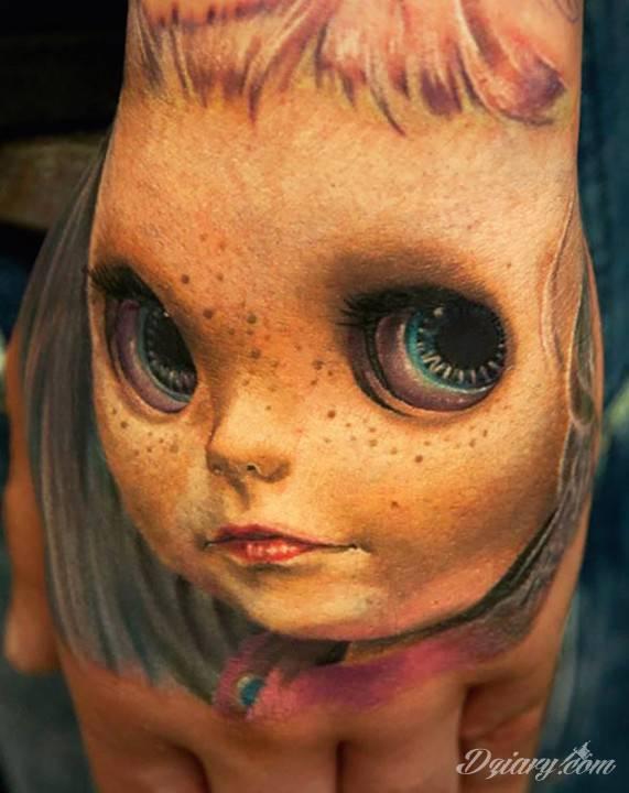 Tatuaż Lalka w 3D