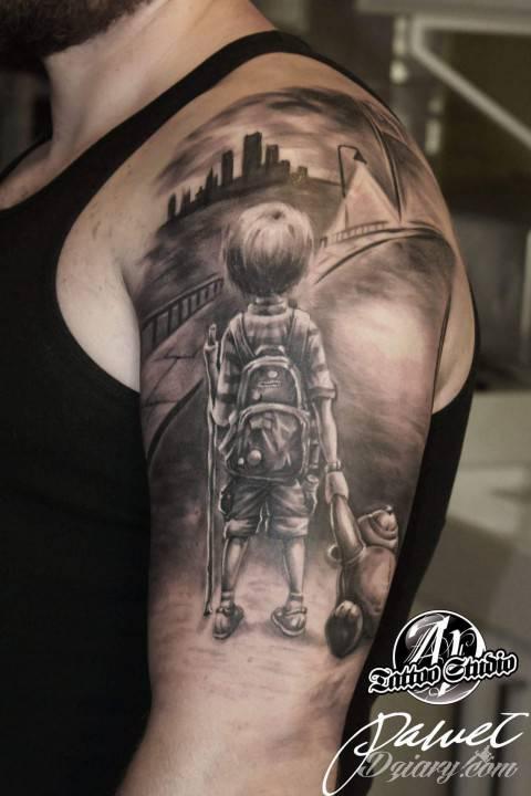 Tatuaż mój pierwszy większy...