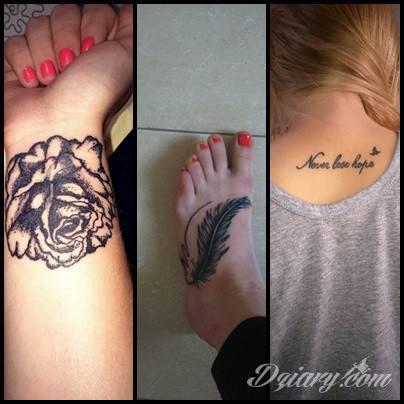 Tatuaż moje wszystkie 3...