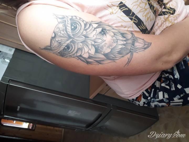 Tatuaż Mroczna sowa