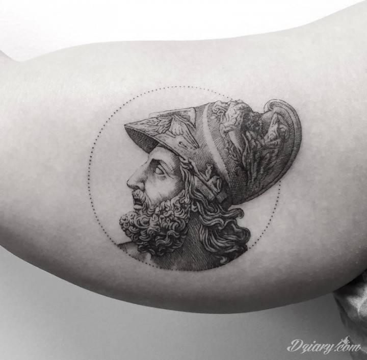 Tatuaż Najtrwalszym symbolem stoicyzm