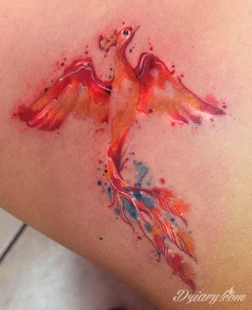 Tatuaż Niczym z popiołów...