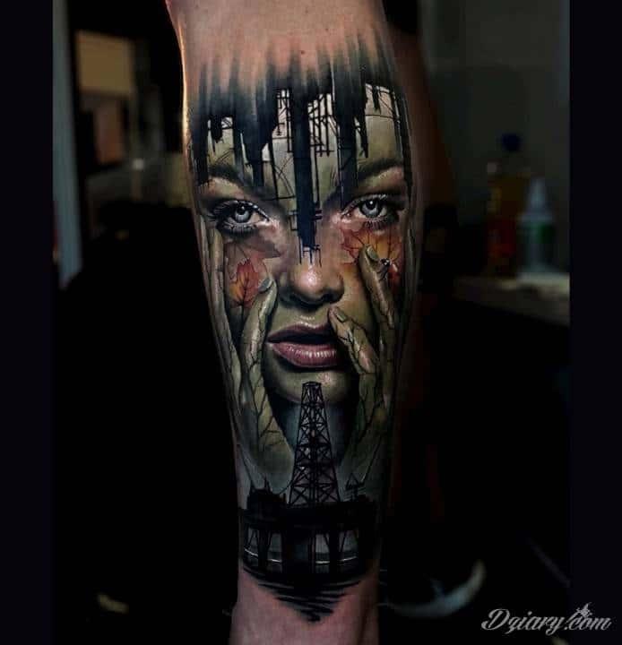 Tatuaż Nie chowaj się...