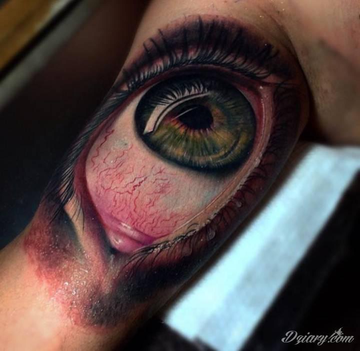 niewiarygodny tatuaż - oko