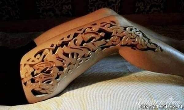 Tatuaż Niezwykła dziara 3D.