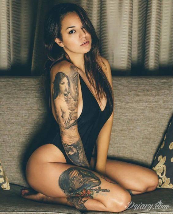 Tatuaż Piękna kobieta i...