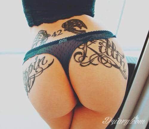 Tatuaż Piękne pośladki!