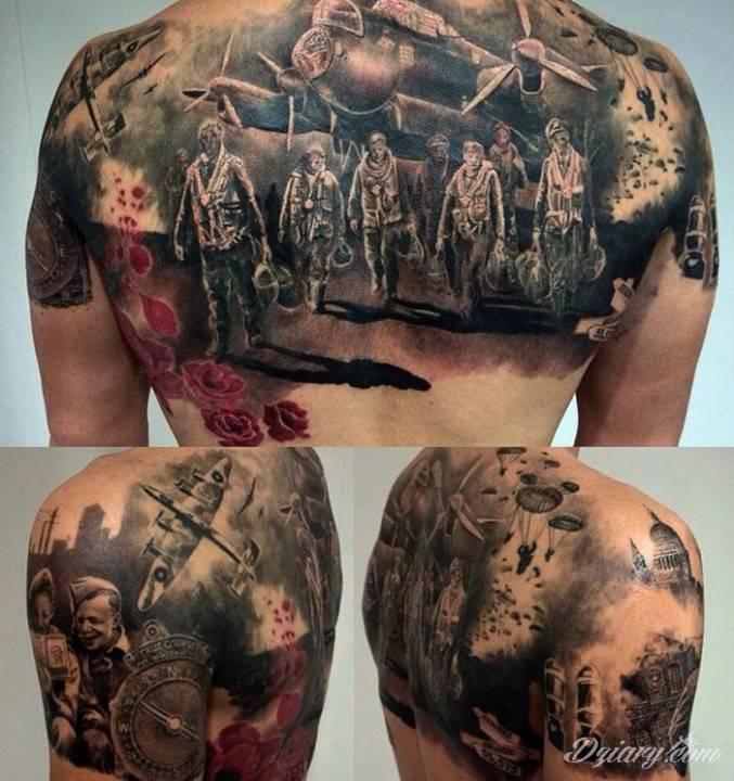 Tatuaż Poświęcenie tworzy narody,...