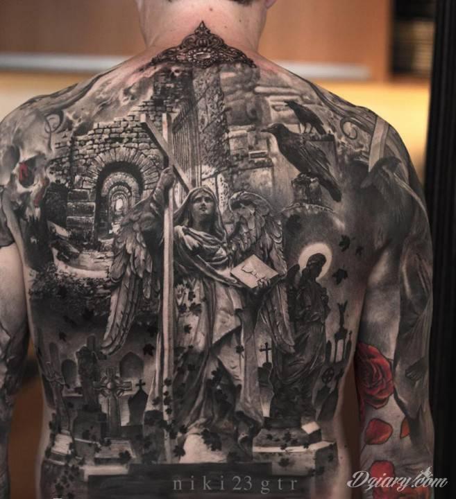Religijny Tatuaż Z Chrześcijańskimi Motywami śmierci
