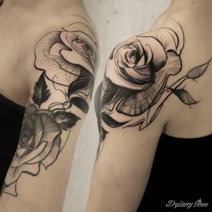 Tatuaż Różyczki w klimacie...