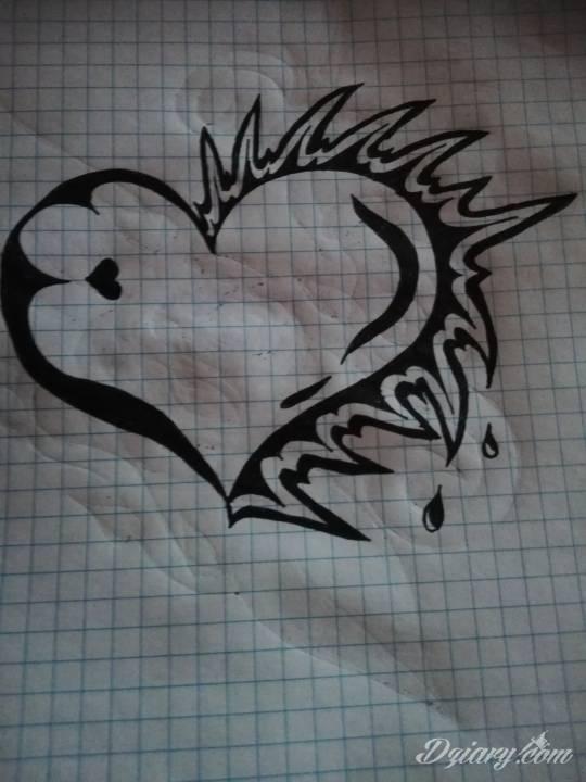 Tatuaż Serce tak kruche
