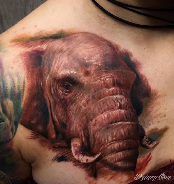 Tatuaż Siła i determinacja...