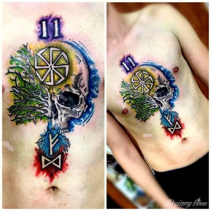 Tatuaż Slowianski naturalizm.. Zrobio