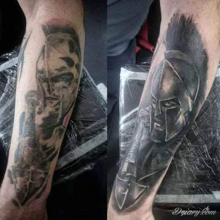 Tatuaż Spartanin wytatuowany na...
