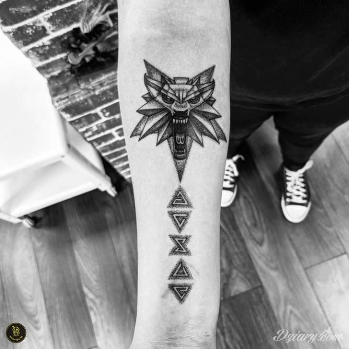 Tatuaż Symbol wiedźmina