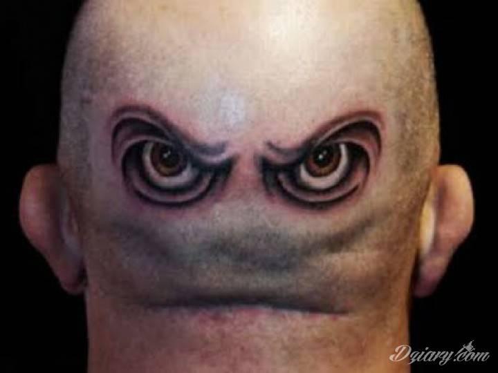 Szalony Tatuaż Z Tyłu Głowy Brązowe Raczej Zdenerw