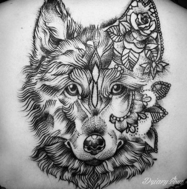 Tatuaż taki wilczek