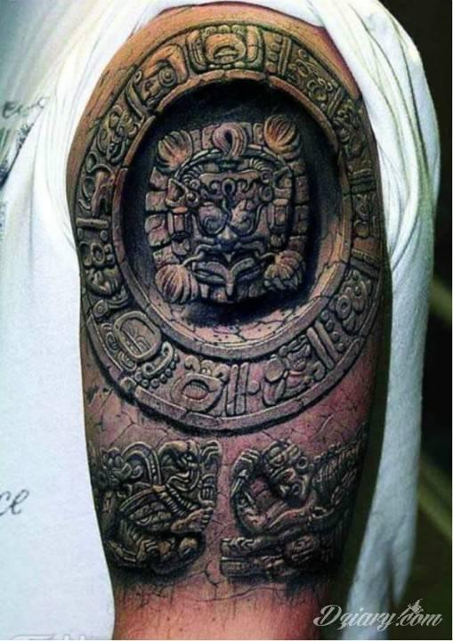 Tatuaż inspirowany kulturą Azteków