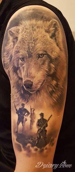 Tatuaż Wilk Jako Symbol żołnierzy Wylkętych A W Cien