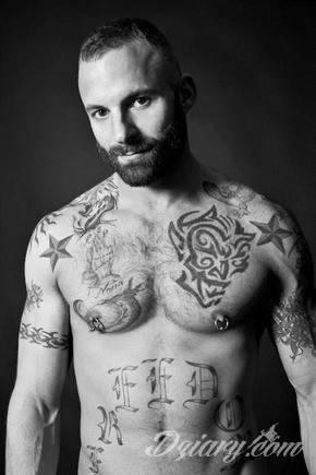 Tatuaż Tatuaże na przystojnym...