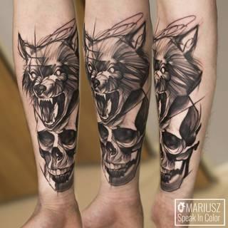 Tatuaże Czaszka Wzory I Galeria Tatuaży