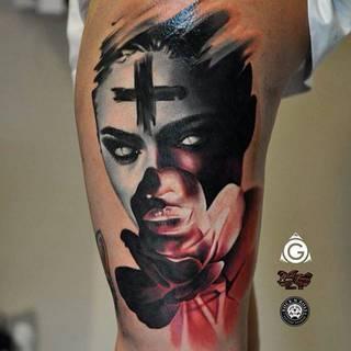 Damiana Gorskiego Gorsky Tattoos z Rock'n'Roll Tattoo and Piercing Warszawa
