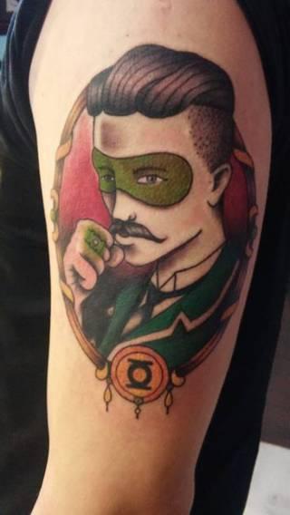 Green Lantern wykonany przez Martę Lisowską ze Studia Demolka w Bydgoszczy