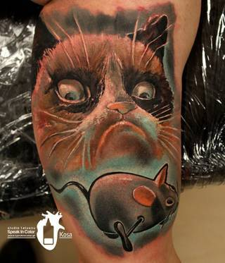 Grumpy cat w wykonaniu Kosy ze studia Speak In Color!