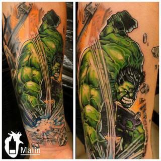 Hulk w wykonaniu Malina ze Speak In Color! https://www.facebook.com/SpeakInColorTattoo