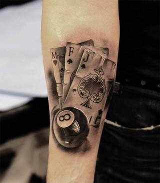 Tatuaże Karty Wzory I Galeria Tatuaży