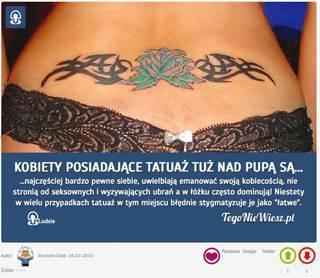Kobiety Posiadające Tatuaż Tuż Nad Pupą Są Najcz