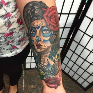 Tatuaże Santamuerte Wzory I Galeria Tatuaży