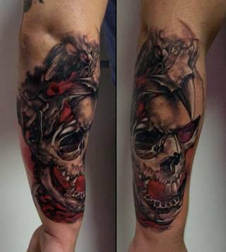 Tatuaże Czaszka Wzory I Galeria Tatuaży Strona 4