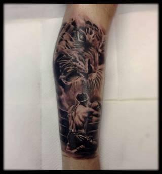 Leg piece, muay thai