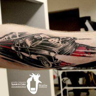 Motyw z Deathproof w wykonaniu Malina ze studia Speak In Color! https://www.facebook.com/SpeakInColorTattoo