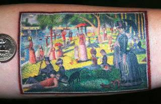 """""""Niedzielne popołudnie na Grande Jatte"""" - Georges Seurat Inspirowane sztuką"""