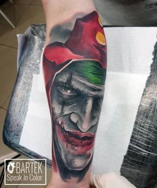 Tatuaże Joker Wzory I Galeria Tatuaży