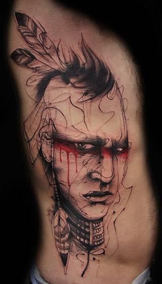 Tatuaż linearny