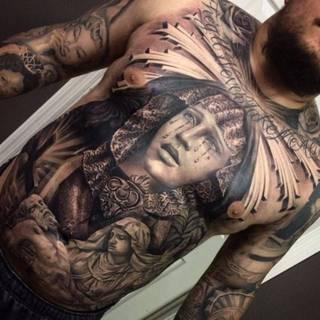 Tatuaże Klatka Piersiowa Wzory I Galeria Tatuaży