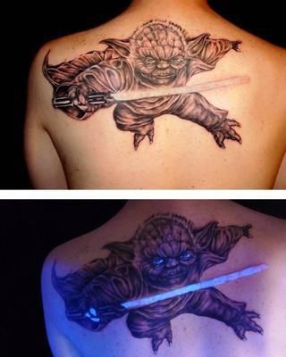 Tatuaż świecący w ciemnościach