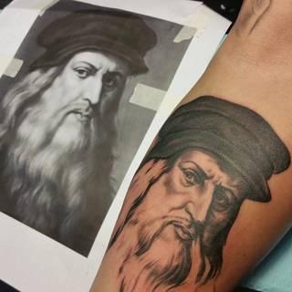 Twarz Leonarda da Vinci.