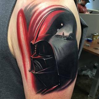 Wizerunek Dartha Vadera.