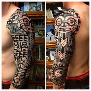 Wzór aztecki na ręce. Fantastyczny efekt pracy Jeroena Frankena