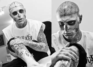 Zombie boy - kanadyjski artysta i model
