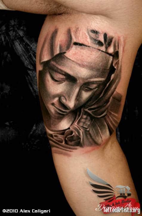 Tatuaż Twarz Madonny z...